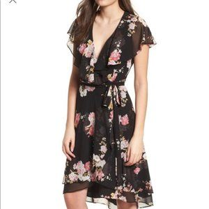 WAYF Polermo Wrap Midi Dress